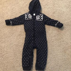 Gap Toddler hooded, sweater longall sz 12-18M